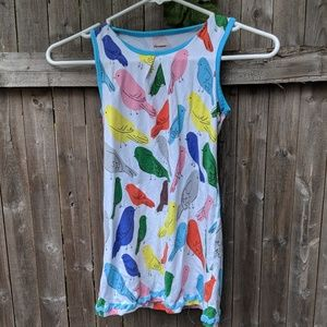 Other - Adorable cotton bird print dress EUC 🐦